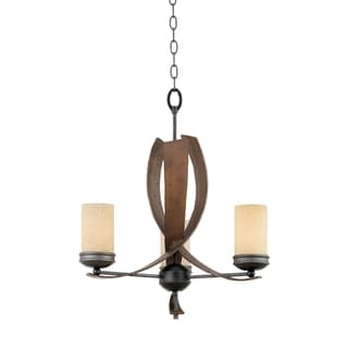 Varaluz Aizen 3-light Hammered Ore with Aspen Bronze Chandelier