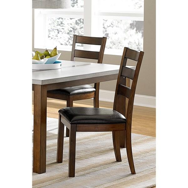 Cascade Nutmeg Wood Short Leg Dining Chairs (Set of 2)