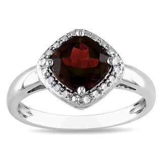 Miadora Sterling Silver Garnet Birthstone Ring