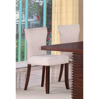 Hightower Mahogany Upholstered Dining Chairs (Set of 2)