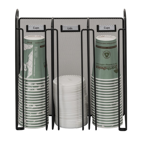 Safco Onyx Steel Mesh Cup/ Lid Holder