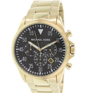 Michael Kors Men's MK8361 Gage Goldtone Ion-plated Stainless Steel Watch