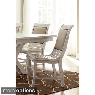 Willow Distressed White Dining Chairs (Set of 2)
