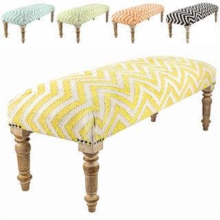 nuLOOM Handmade Contemporary Chevron Cotton Wood Bench