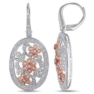 Miador Sterling Silver 1/3ct TDW Vintage Diamond Drop Earrings (G-H, I2-I3)