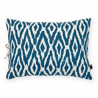 Tommy Hilfiger Cordillera Ikat Blue Decorative Throw Pillow