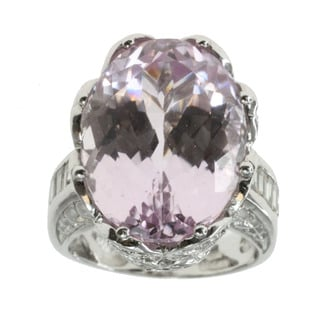 Michael Valitutti Kunzite and Diamond Ring