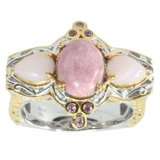 Michael Valitutti Colorado Rhodinite, Pink Opal And Pink Sapphire Ring