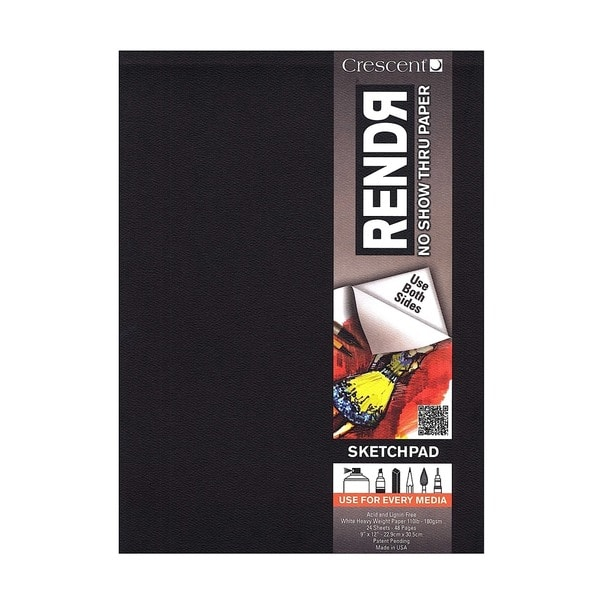 Crescent RendR No Show Thru Drawing Pad, 24 sheets (2 Pack)