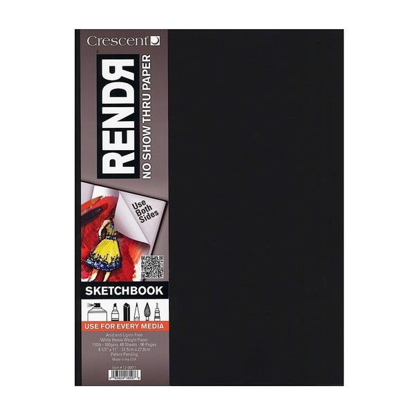 Crescent RendR No Show Thru Hardbound Sketchbook (Pack of 2)
