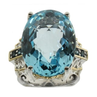 Michael Valitutti Sky Blue Topaz Ring