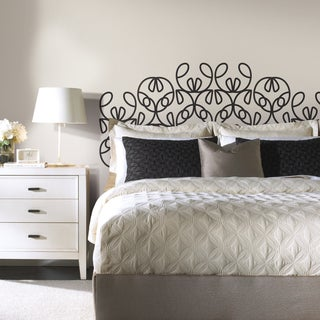Ribbon Headboard Peel and Stick Giant Wall Decals