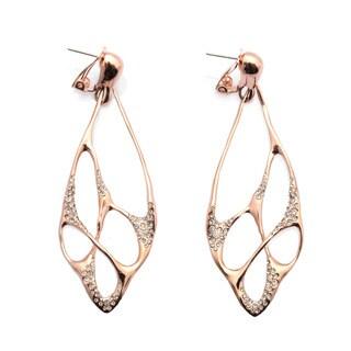 De Buman 18k Rose Goldplated and White Czech Earrings