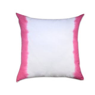 Pink Ombre Cotton Throw Pillow