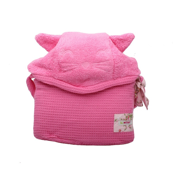 Minene Cuddly Pink Kitty Cat Baby Bath Towel
