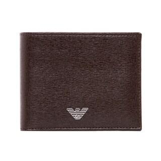 Emporio Armani Brown Saffiano Leather Bi-fold Wallet