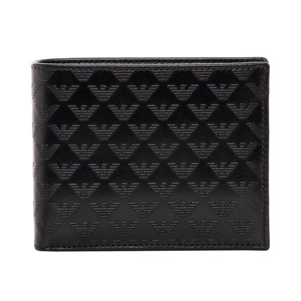 Emporio Armani All-over Logo Leather Bi-fold Wallet