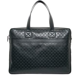 Emporio Armani All-over Logo Leather Briefcase