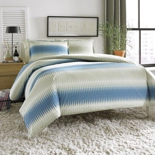City Scene Calista Blue/Grey 3-piece Duvet Cover Set