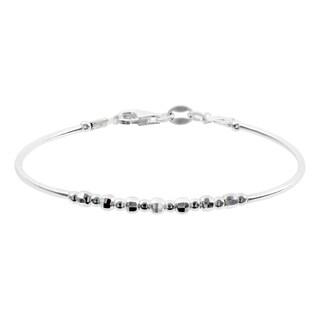 Journee Collection Sterling Silver Italian Bead Bracelet