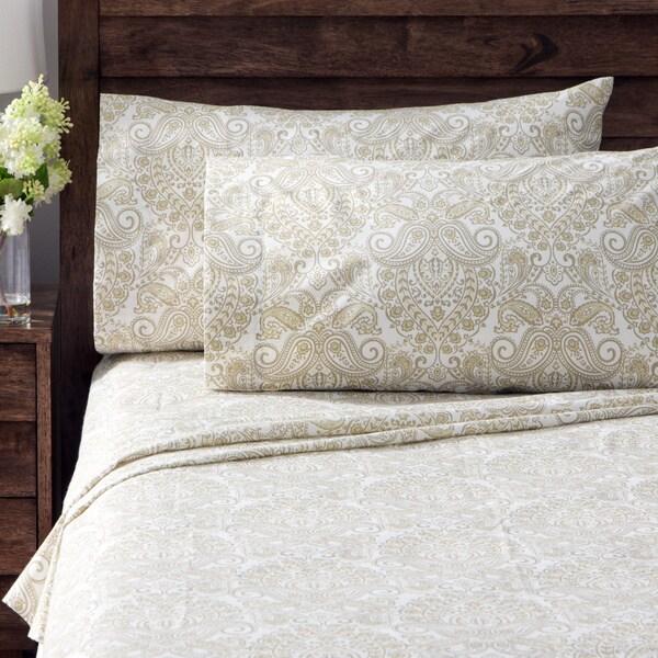 Geneva Paisley Percale Cotton Rich Sheet Set