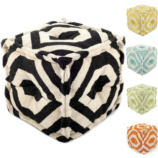nuLOOM Handmade Casual Living Square Ottoman Pouf