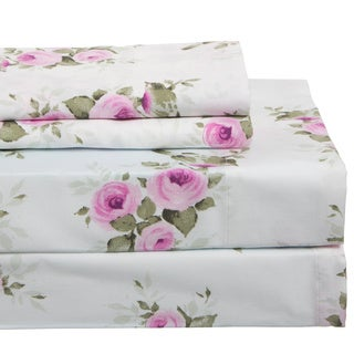 300 Thread Count Cotton Rich Floral Sheet Set