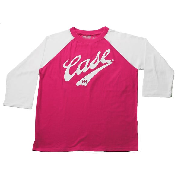 Case IH Toddler Girls Magenta Embroidered Baseball Style Top