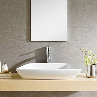 Somette Fine Fixtures Modern White Vitreous China Vessel Sink