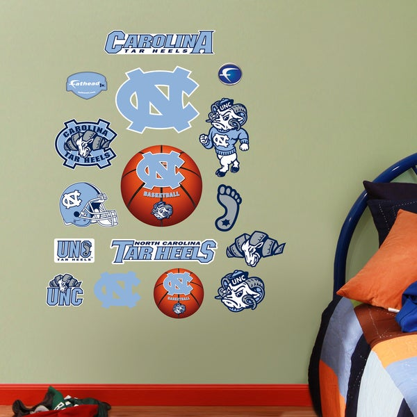 Fathead Jr. North Carolina Tar Heels Vinyl Wall Decals 14611360