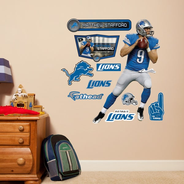 Fathead Jr. Matthew Stafford/ Detroit Lions Vinyl Wall Decals