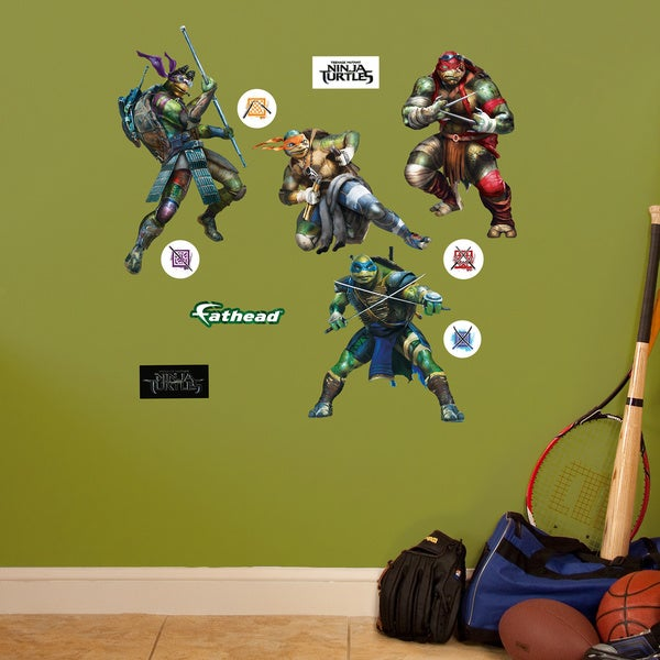 Fathead Jr. Teenage Mutant Ninja Turtles Movie Collection Wall Decals