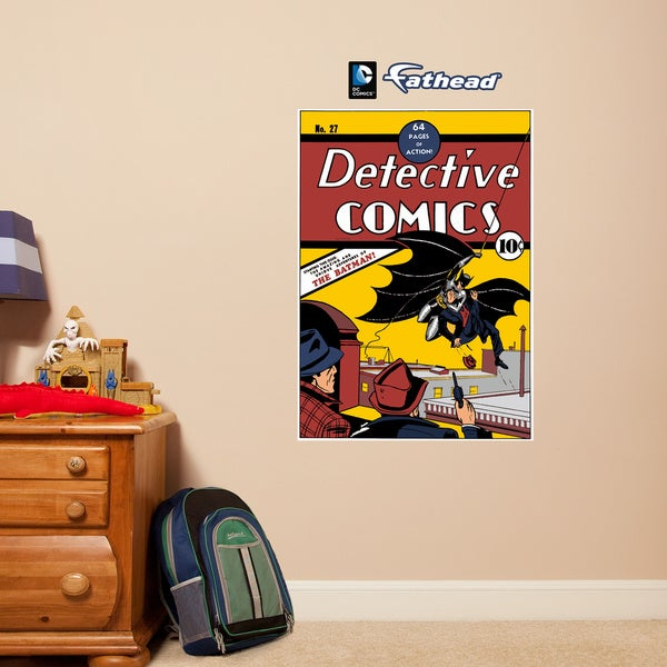 Fathead Jr. Batman Detective #27 Comic Book Cover Wall Decals