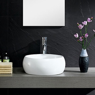 Somette Fine Fixtures Vitreous China Bulging Round Vessel Sink