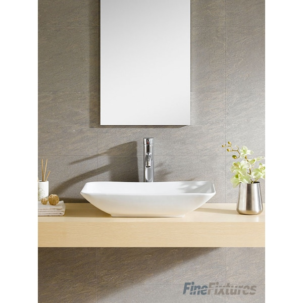 Fine Fixtures White Vitreous China Rectangle Vessel Sink 16897620 Shopping