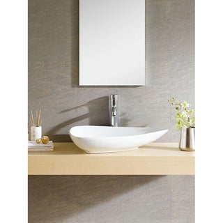 Fine Fixtures Vitreous China Triangular White Vessel Sink