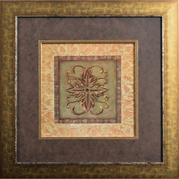 Iconic Gold I' by Pamela Smith-DesgrosellierFramed Art Print