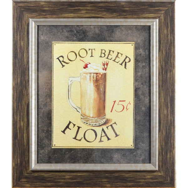 Malt Shop IV: Root Beer Float ' by Catherine Jones Framed Art Print