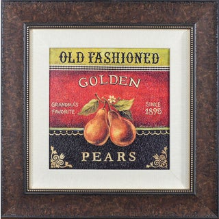 'Golden Pears' by Kimerly PolosonFramed Art Print
