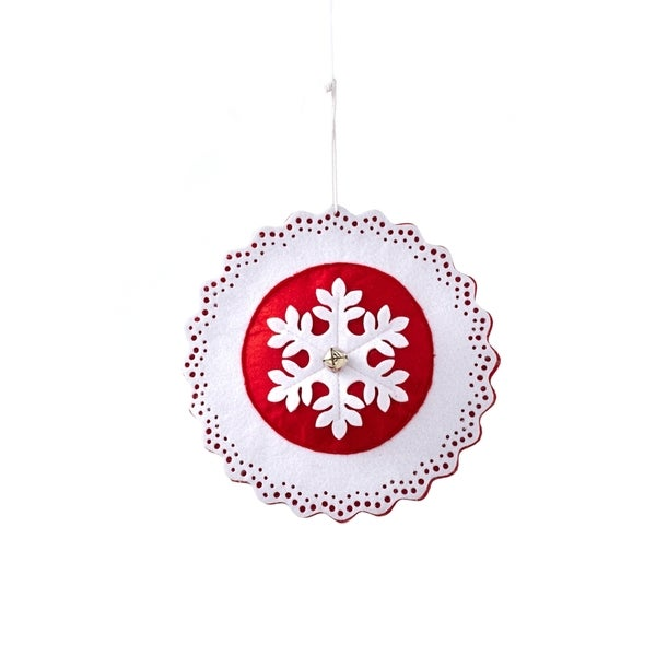 Sage & Co Felt 8-inch Snowflake Ornament (Set of 3)