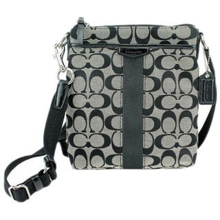 Coach Signature Stripe Swing Pack