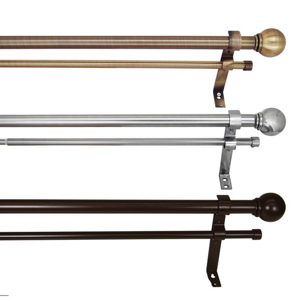 Versailles Steel Double Telescopic Curtain Rod