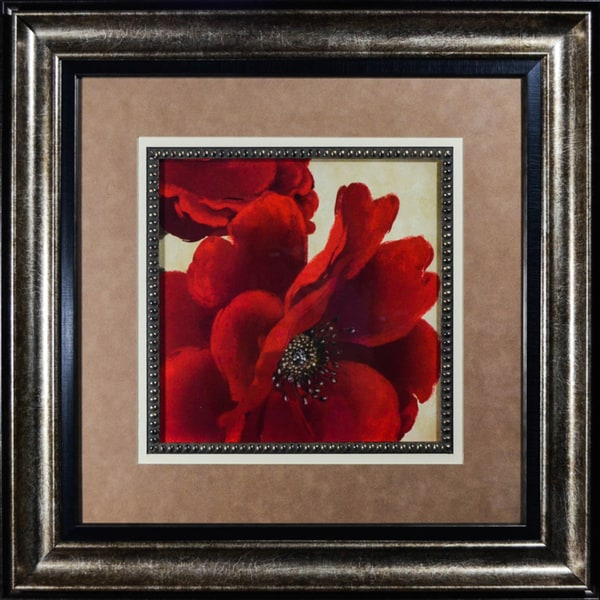 Red Peony I' by Linda Wood Framed Art Print