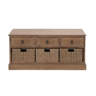 Wooden 3-basket Chest