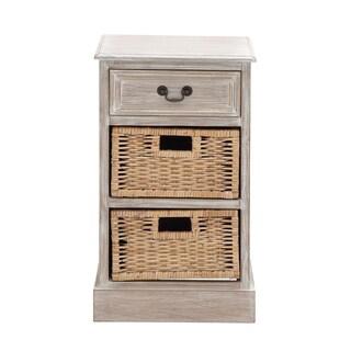 Wooden 2-basket Chest