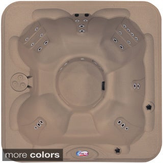 American Spas 6-person 30-jet Bench Spa with Easy Plug-N-Play and Two Port LED Waterfalls