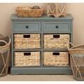 Wicker 4-basket Cabinet