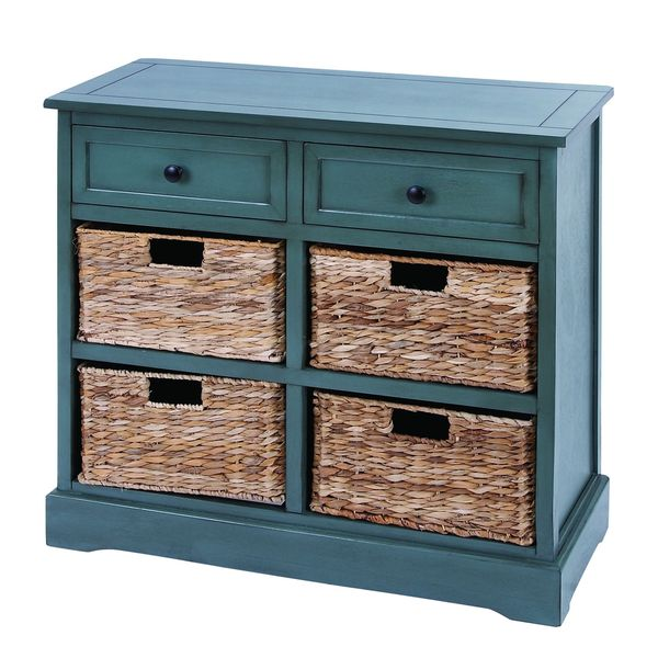 Wicker 4-basket Cabinet