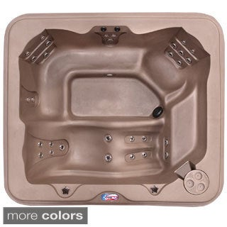 American Spas 5-Person 30-Jet Lounger Spa with Easy Plug -N-Play and Two Port LED Waterfalls
