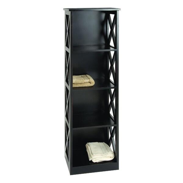 Black Wood 3-shelf Unit